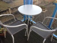Outside table with 2 chairs