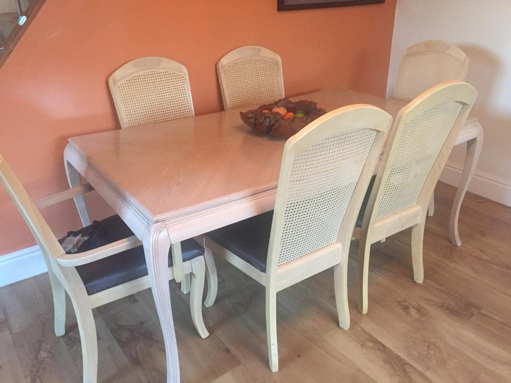 Beech 6 Seater Dining Table Dresser