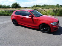 BMW 1 Series 120D M Sport, Imola red, full spec, LCI, 207bhp, full leather, satnav, 12 month MOT