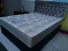 Brand new Kingsize divan bed with 2 drawers, luxury mattress and headboard