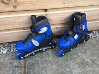 Roller blades, adjustable size 12-2