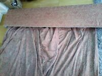 Beautiful Red and gold,Excellent condition. Padded, pelmet and matching fully lined curtains. WOW