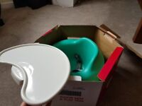 As new bumbo play seat and tray