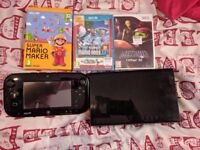 Black WII U with 4 games {Mario}