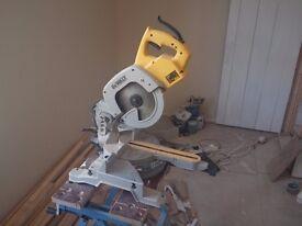 Dewalt DW707 sliding cross cut mitre saw and leg stand