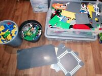 Boxes of mixed lego