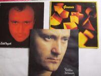 Genesis and Phil Collins vinyl LPs