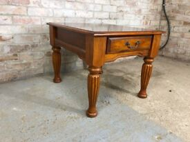 Vintage Rosewood Coffee Table with Drawer