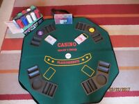 TEXAS HOLD THEM POKER SET WITH CHIPS