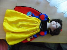 "Beautiful Collectable Snow White Porcelain Doll 17"" Tall - VGC"