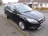Ford Focus Estate 1.6Tdci Estate Titanium Black (FSH, 12+mths MOT, cheap tax £30)