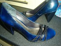 Electric Blue Leather Gabor size 7
