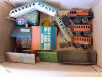 Vintage Tin Plate Train Set Plus accessories