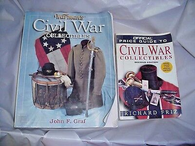 CIVIL WAR COLLECTIBLES - lot of 2 books - Warman's - FREE SHIPPING