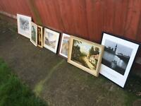 Original paintings and prints x 7 No reasonable offer refused!