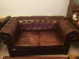 Chesterfield two seater sofa dimensions: 168Lx89Dx74H