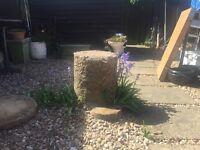 Old stone garden roller