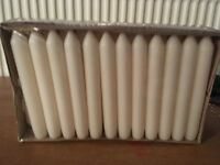 "IKEA - BOX OF 50 X 6"" WHITE CANDLES - NEW - UNOPENED."