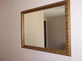 Gilt Framed Mirror Antique Style 58 x 78 cms