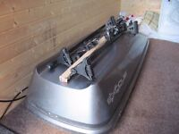 Reduced price!! Halfords 6ft car roof box with bars and fittings