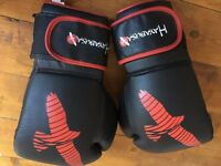 Hayabusa 16oz sparring boxing muay thai gloves black/red