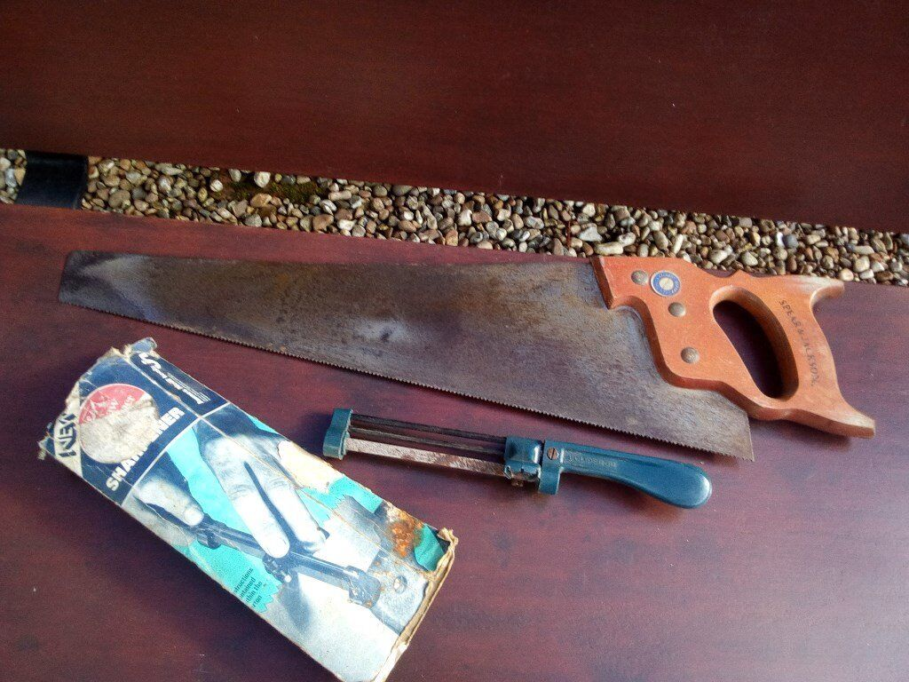 wood saw spear/jackson + saw tooth sharpener