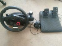 Logitech Driving Force GT Force Feedback Racing Wheel PS2 PS3 PC