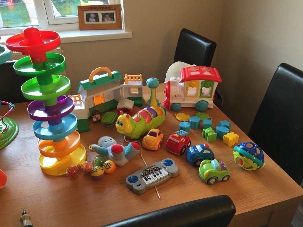 baby toddler toy bundle free dlvry little tikes train shape sorter ...