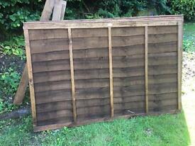 6ft Fence panels & posts