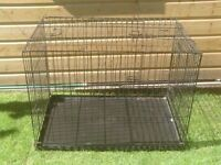 DOG CAGE LARGE WITH METAL TRAY £25