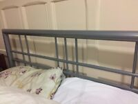 Double Bed Frame. Silver rail style.