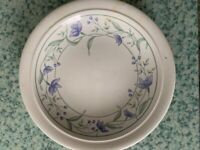 Full 8 place Dinner Service - white with blue/green floral pattern