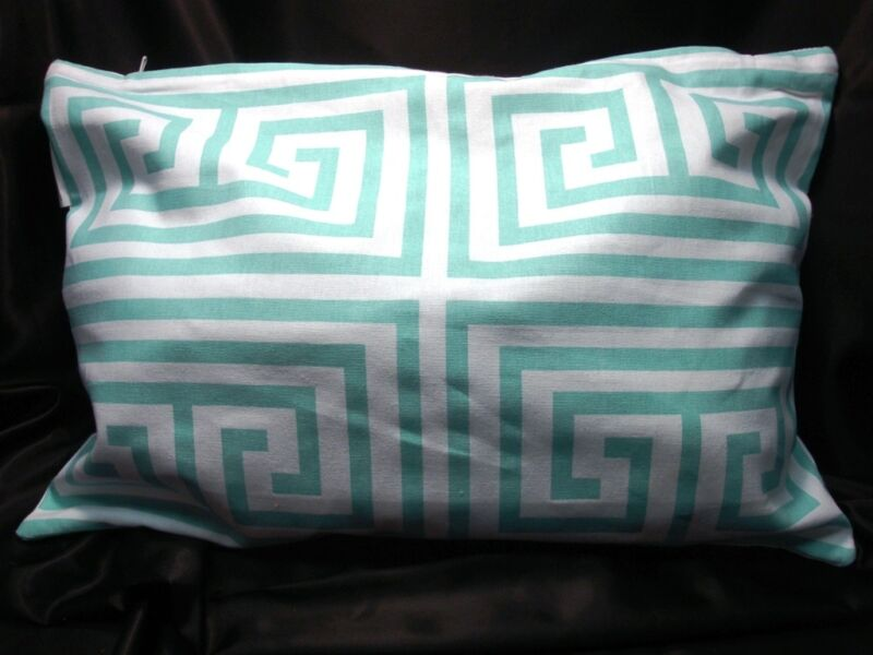 Newport Layton Home Fashions Maze Pillow Slip Case - Zipper Closure Aqua Blue