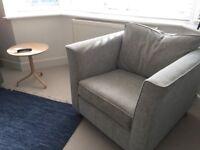 Armchair By Sofa Workshop Harry Range In Sky Grey/Blue