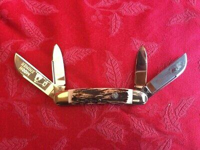 Real vintage Hen & Rooster Stag Congress 1993 Moonshiner Knife, Soligen Germany