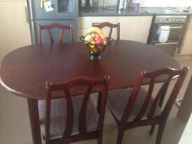Beautiful Mahogany Dining Table with 4 Chairs