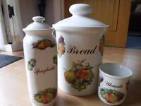 Bread bin set