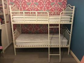 GIRLS IMMACULATE BUNKBEDS WITH MATTRESSES