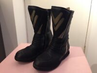 Frank Thomas motorcycle boots size 9
