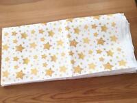 Glitter Star Fabric 1m
