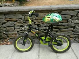 """14"""" Apollo Claws Bike & Helmet and Stabilisers. VG condition."""