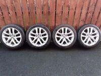 "Genuine Volkswagen Scirocco 17""x8J Alloys / Tyres 5x112pcd VAG Fitment"