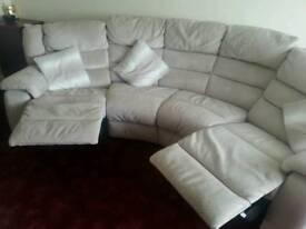 DFS cream fabric sofa