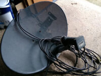 Satellite dish free to collector