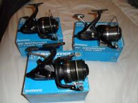 Shimano XT-A Long cast big bait runner reels x 3 boxed as good as new