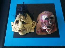 Halloween rubber full face masks adult size.