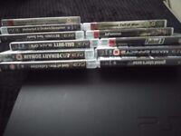 Sony PlayStation 3 slim 120 gb 11 games