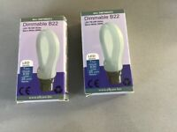 2 Allcam Dimmable 7W Bayonet B22 Warm White LED Bulb 630lm ~60W Incandescent Globe Lights