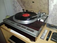 Denon rp 47f turntable. True collectors classic fantastic condition, manual and box.