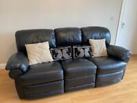3 Seater & 2 Seater Reclining Leather suite